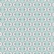 Lewis & Irene - Poodle & Doodle - 6361 - Retro Geometric in Aqua - A361.1 - Cotton Fabric